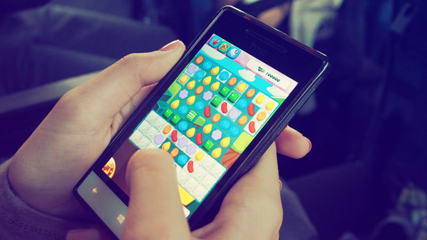 candy crush mobile gaming