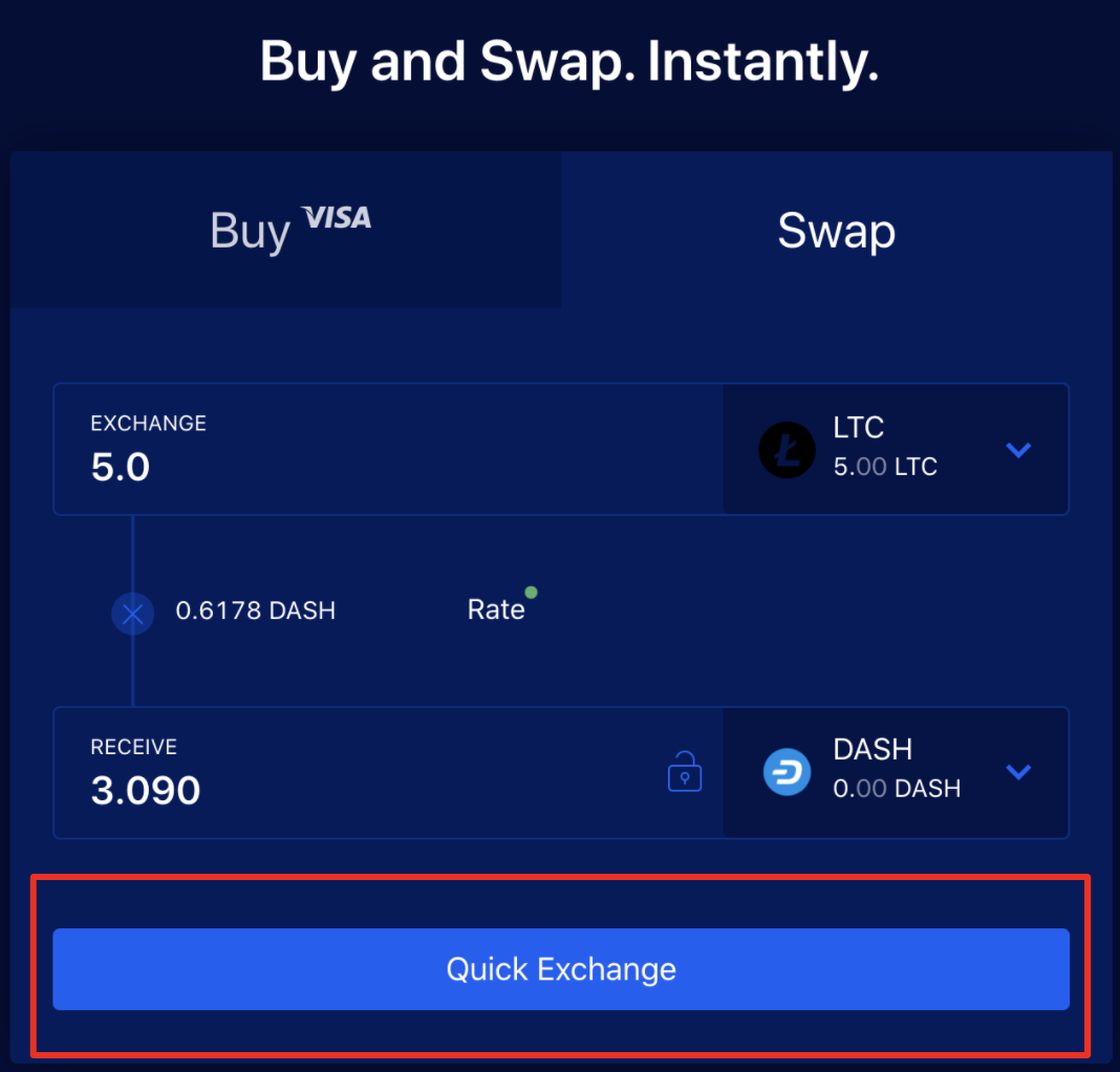 Swaps and quick exchange