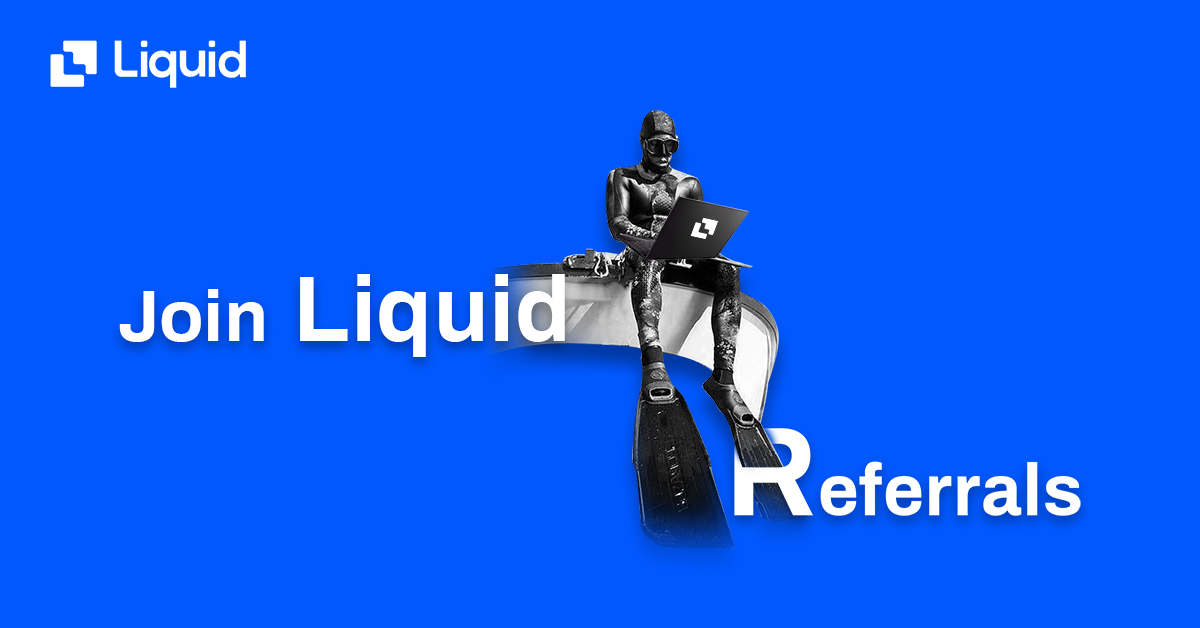 Earn crypto with liquid referrals