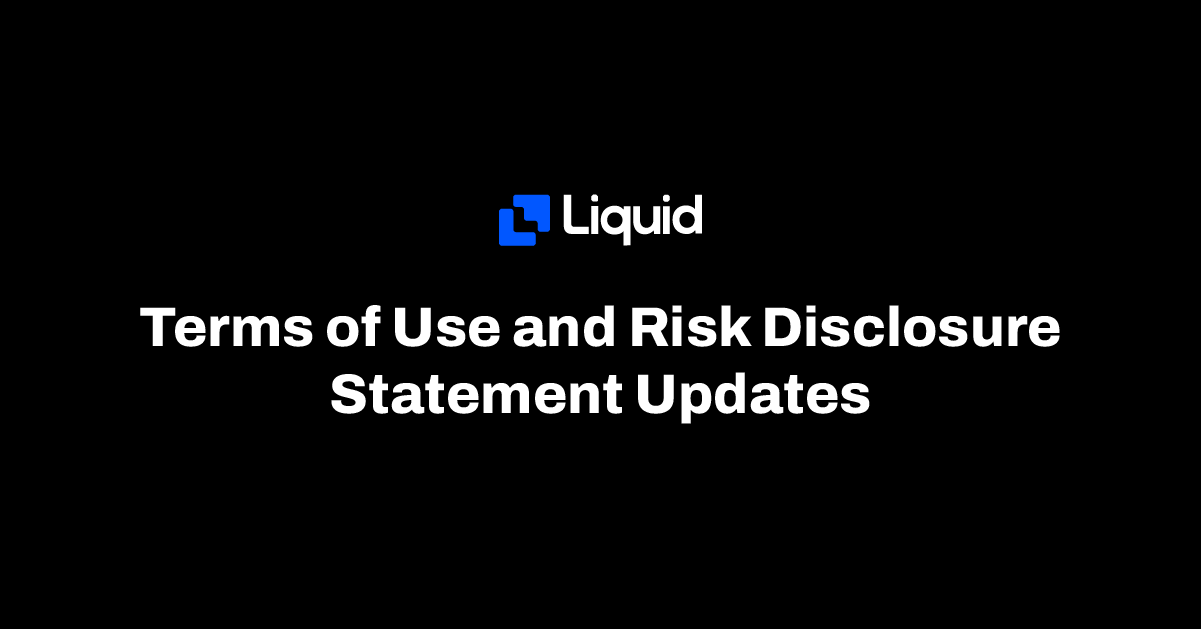 Terms of use and risk disclosure updates
